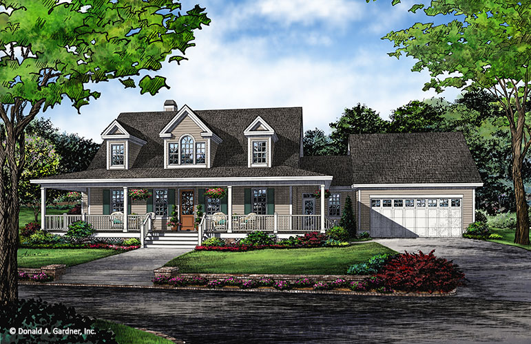 Home Plan #1288 - Now in Progress - Front Rendering