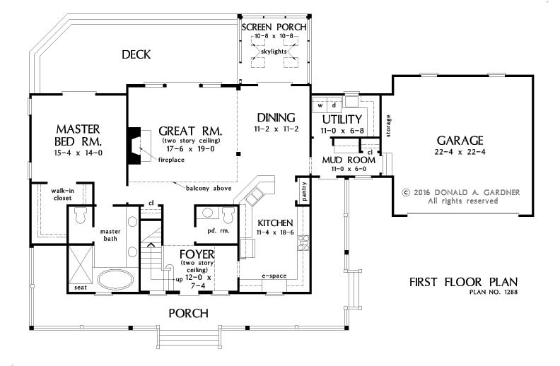 HOME PLAN #1288 – NOW IN PROGRESS - First Floor Plan