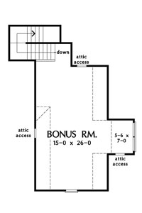 Check out the bonus room of The Celeste, house plan 1323.