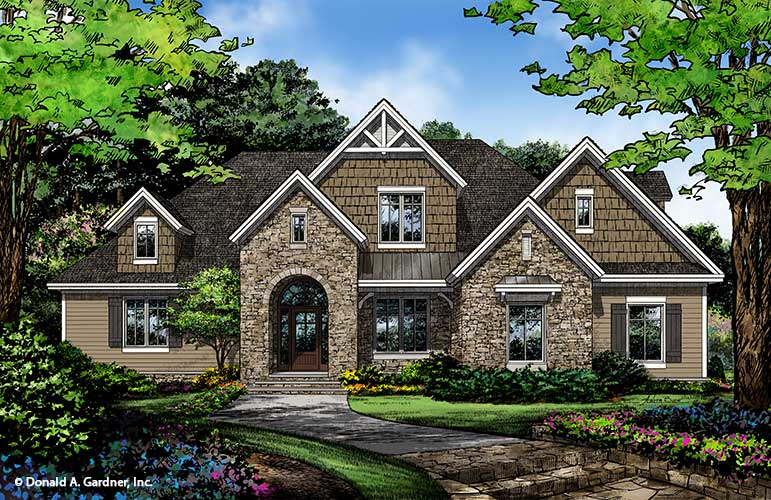 Home Plan 1330 - Front Rendering