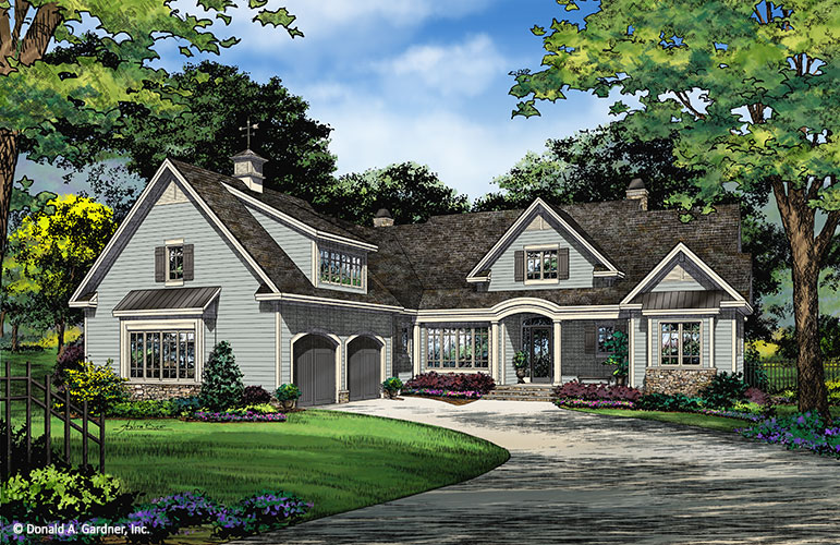 Home Plan 1400 - Front Rendering