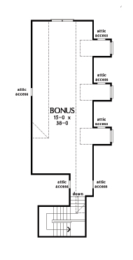 Check out the bonus room of home plan 1379.