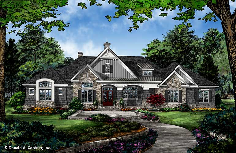 Check out the front rendering of home plan 1379.