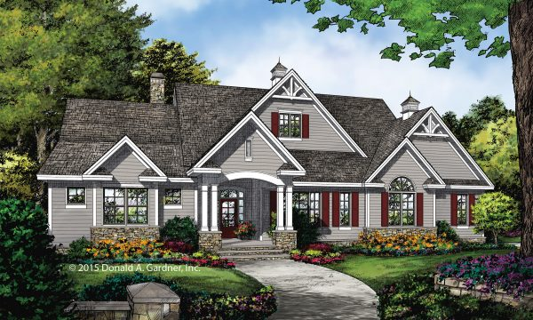 Conceptual design 1370 perfect for corner lots for Perfect for corner lot house plans