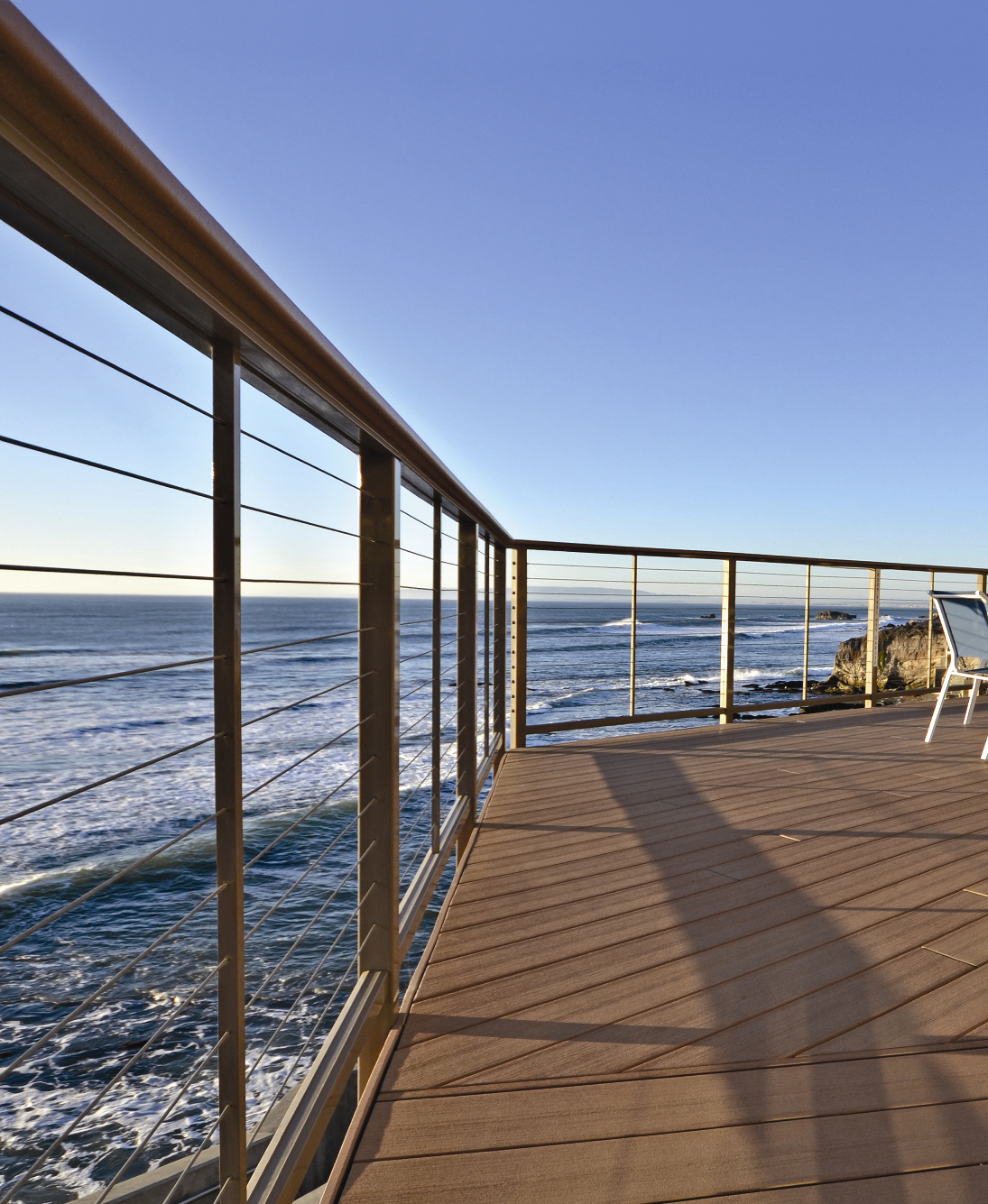 Dream Homes with Feeney Deck Railing installed
