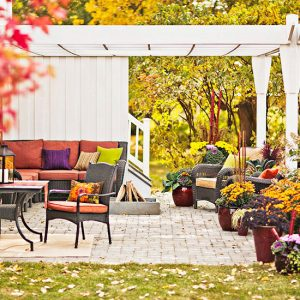 dream home fall backyard