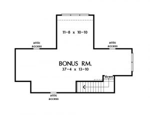 Check out the bonus room of home plan 1416, The Nelson.