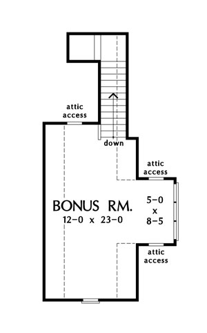 Check out the bonus room of The Napier house plan 1421.