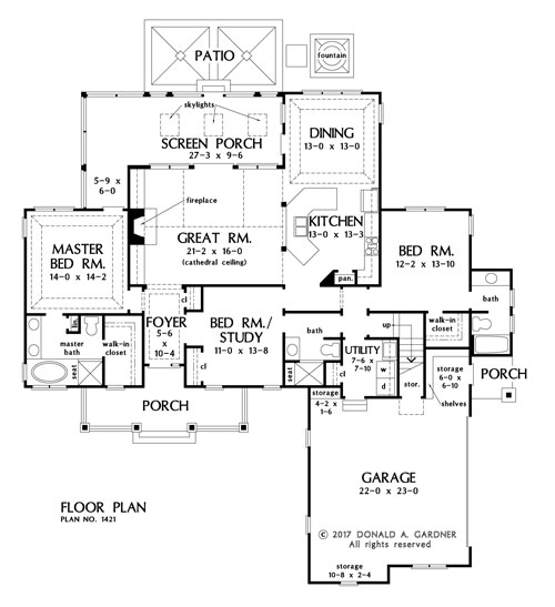 Check out the first floor plan of The Napier house plan 1421