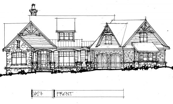 conceptual design  1427  rustic one-story