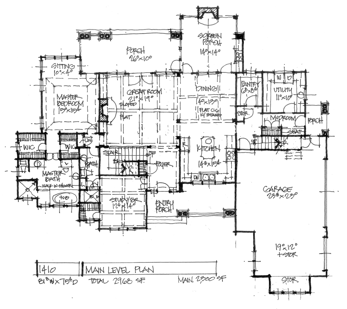 Home Plan 1410 - First floor plan