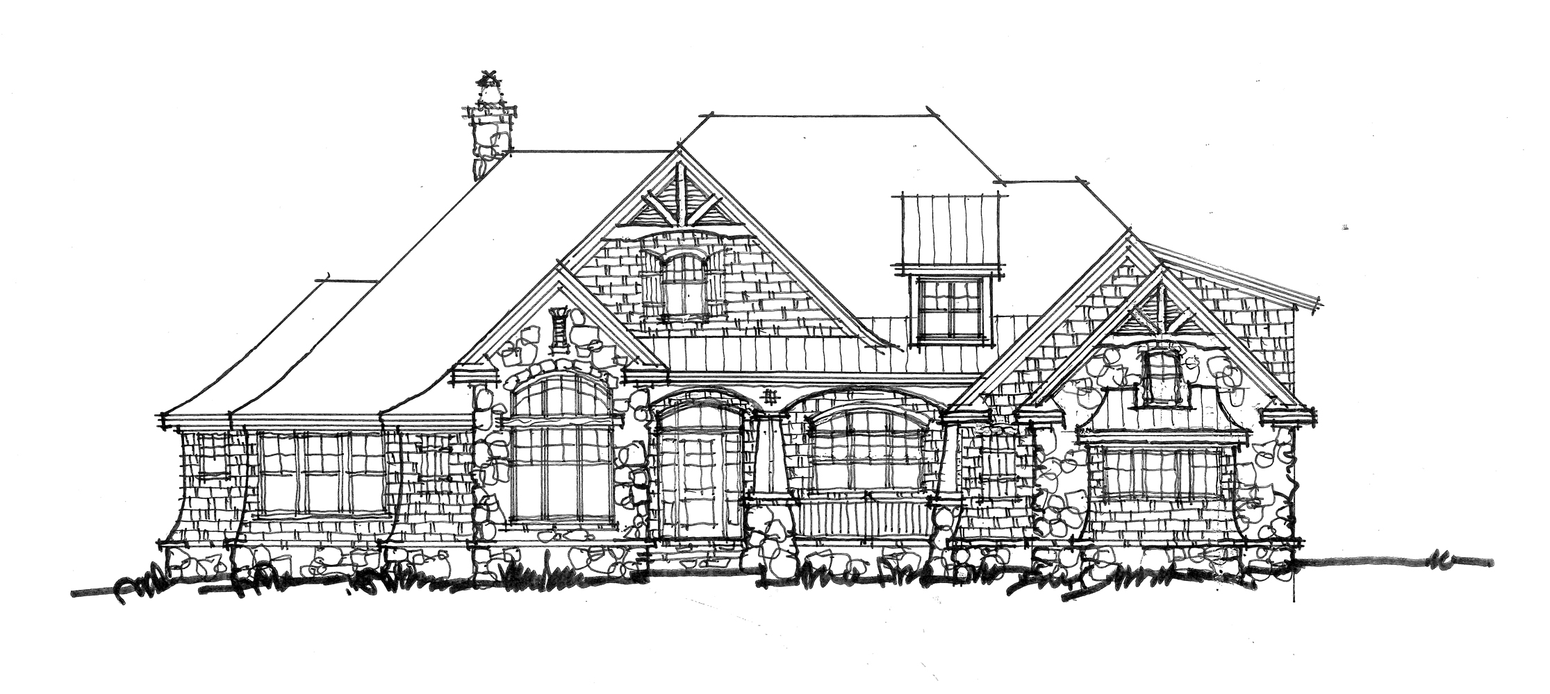 Home Plan 1410 - Front elevation