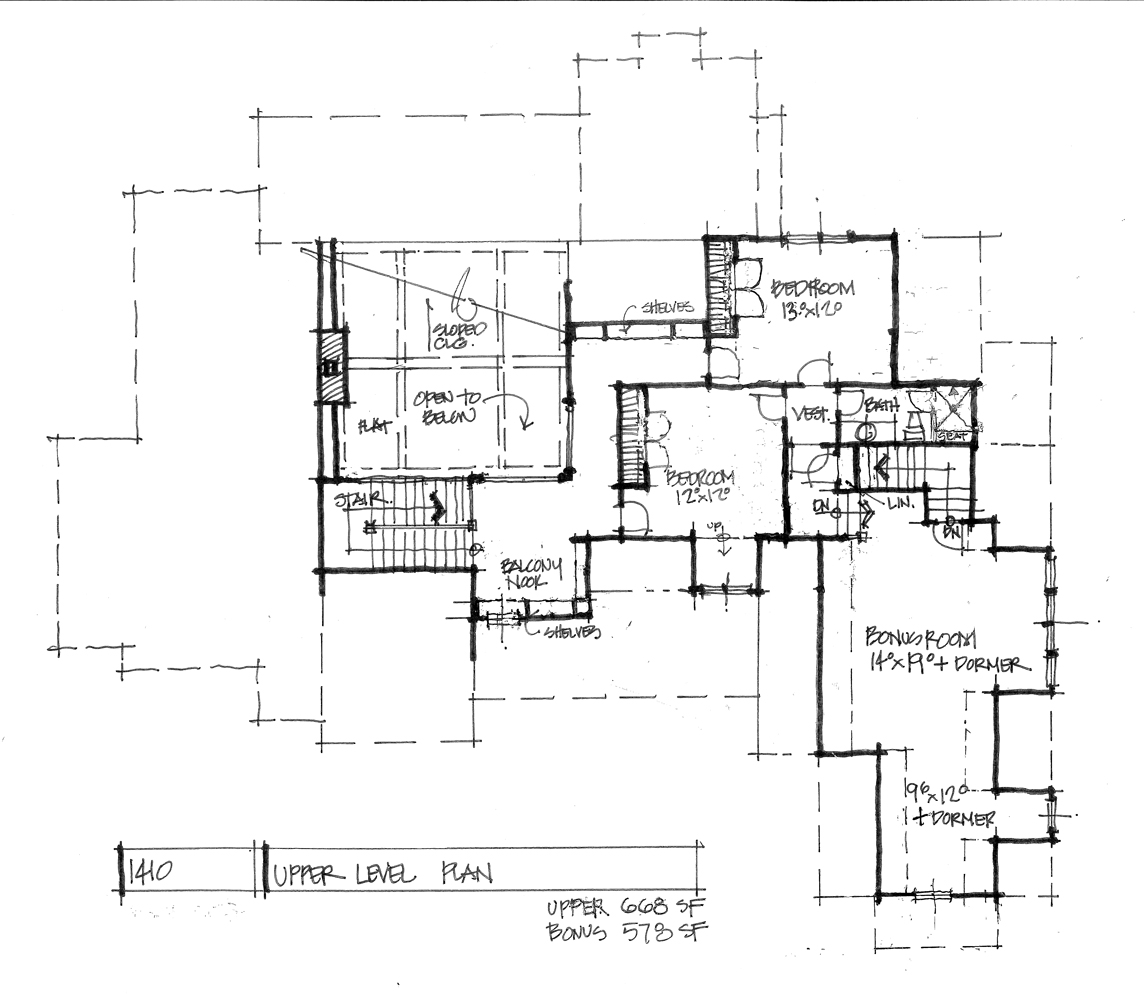 Home Plan 1410 - Second floor plan