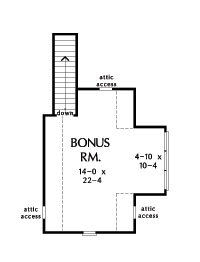 Home Plan 1414 - bonus room