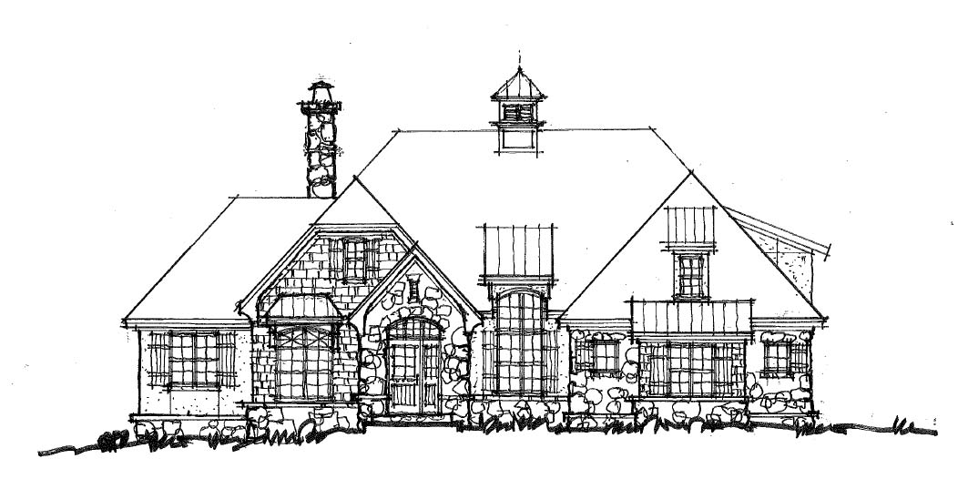 Conceptual home design 1435 - front elevation
