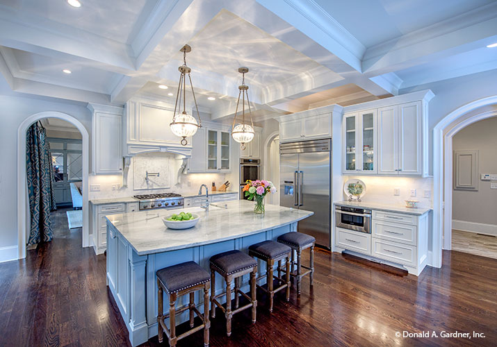 Home builders pinnacle award another don gardner design for Gourmet kitchen floor plans