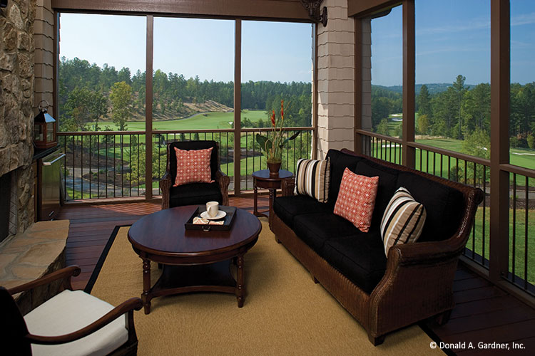 House Plans - Screened porch of The Clubwell Manor #5037