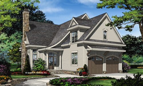 House plan 1451 now available houseplansblog for Narrow lot house plans with front entry garage