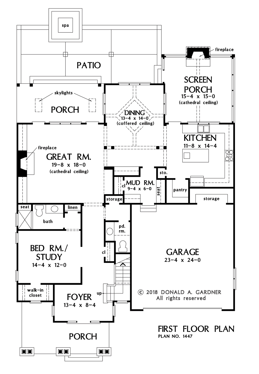 Check out the first floor of The Lincoln house plan 1447.
