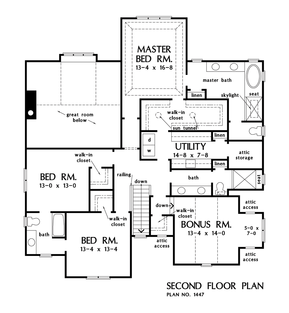 Check out the second floor of The Lincoln house plan 1447.