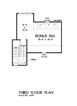 Check out the bonus room of home design 1448, The Rawling.