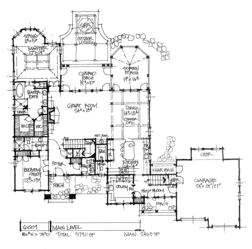 Check out the first floor of house plan 6001.