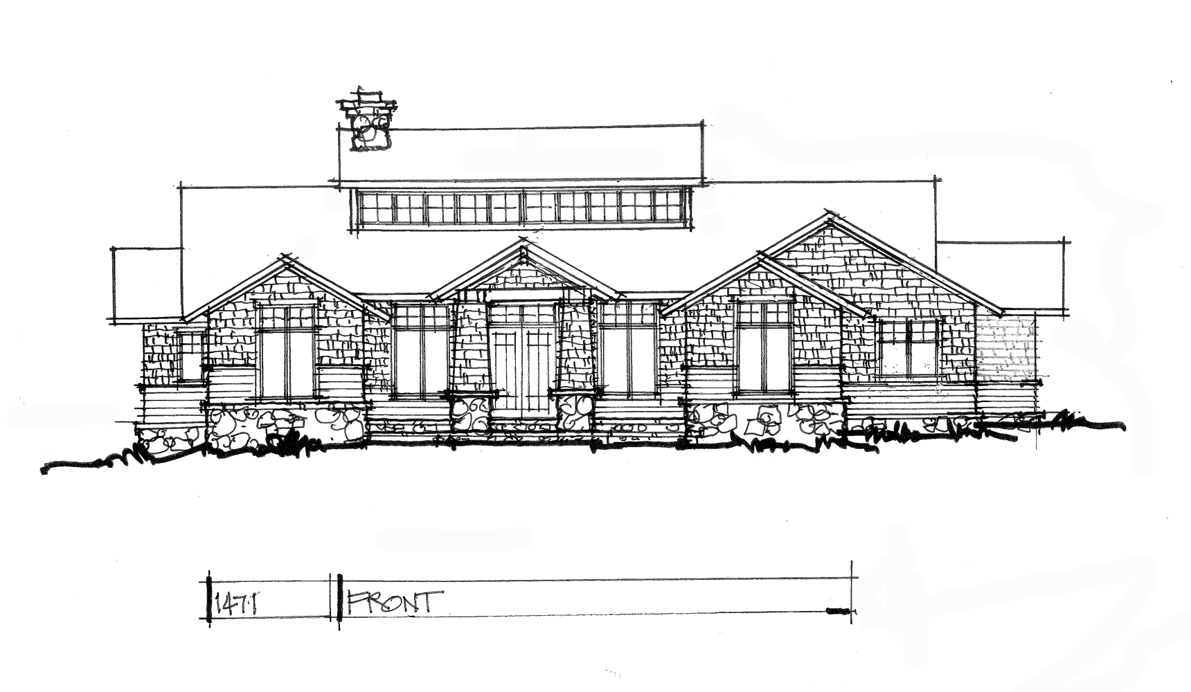 Conceptual house plan 1471 is a modern ranch.