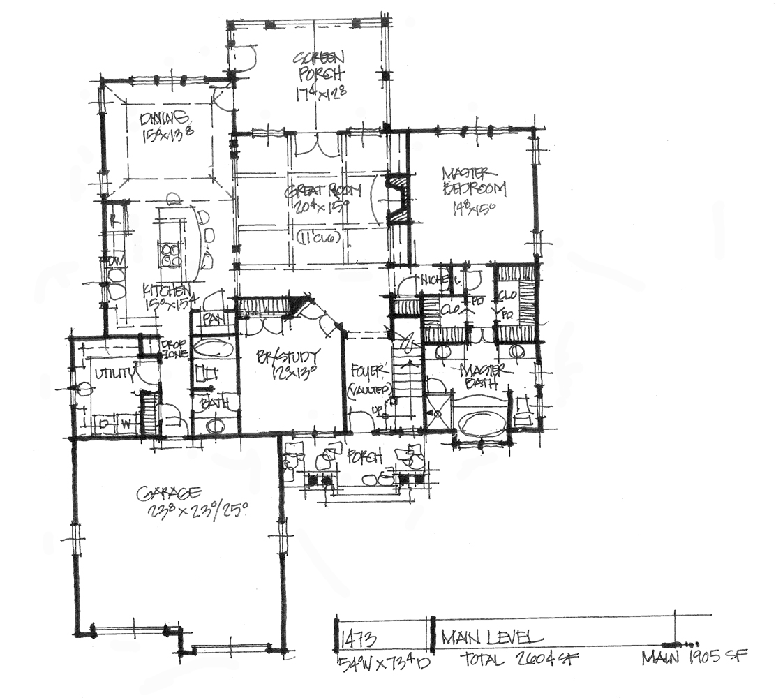 Check out the first floor plan for house plan 1473.