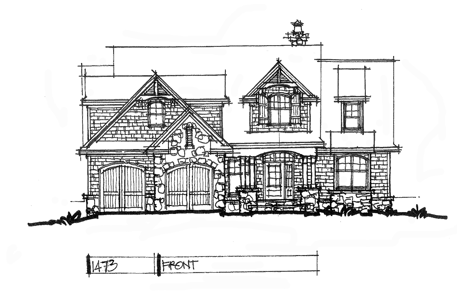 Check out the front elevation for house plan 1473.