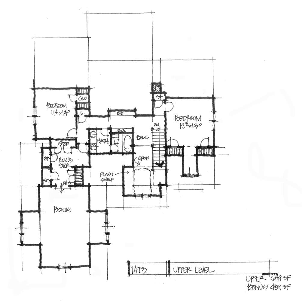 Check out the second floor plan for house plan 1473.