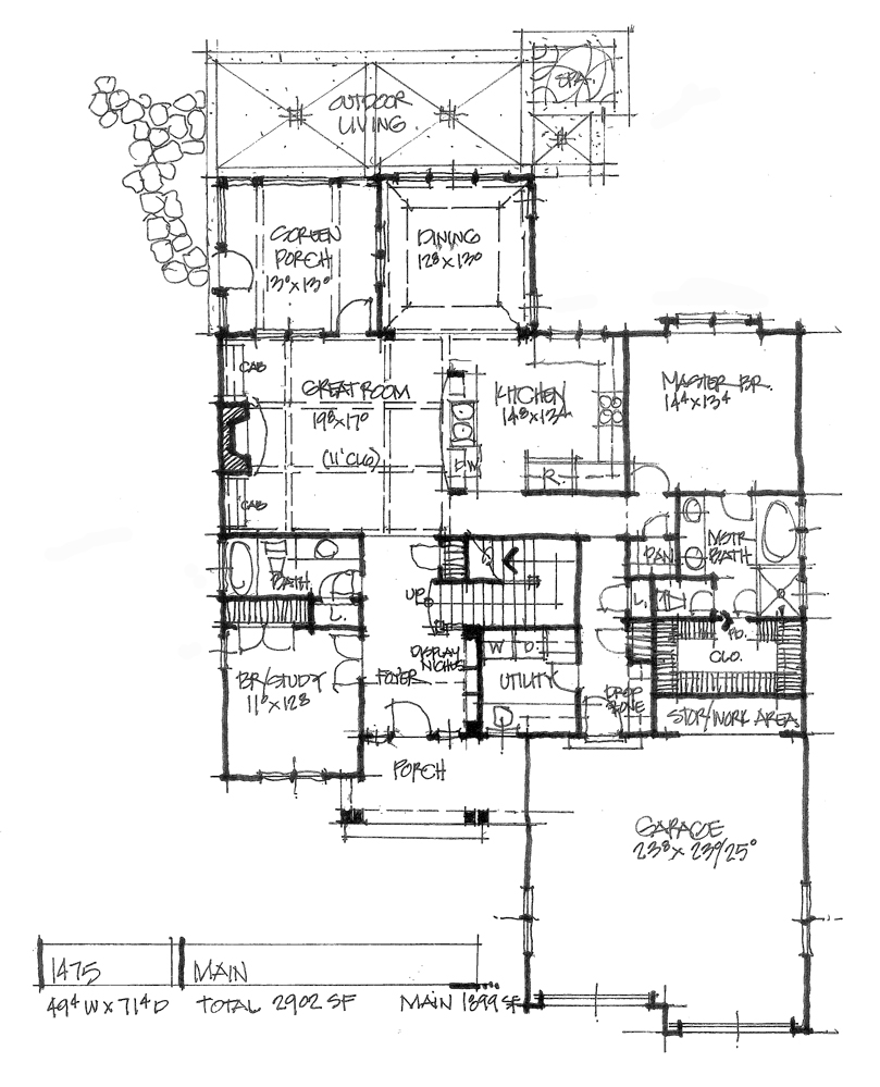 Check out the first floor plan of conceptual design 1475.