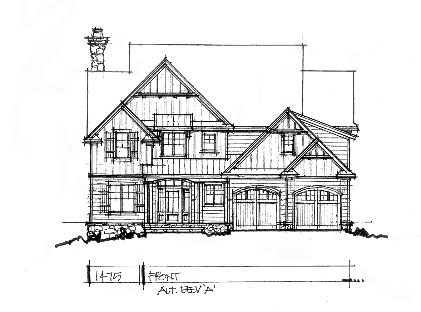 Check out front elevation A for conceptual design 1475.