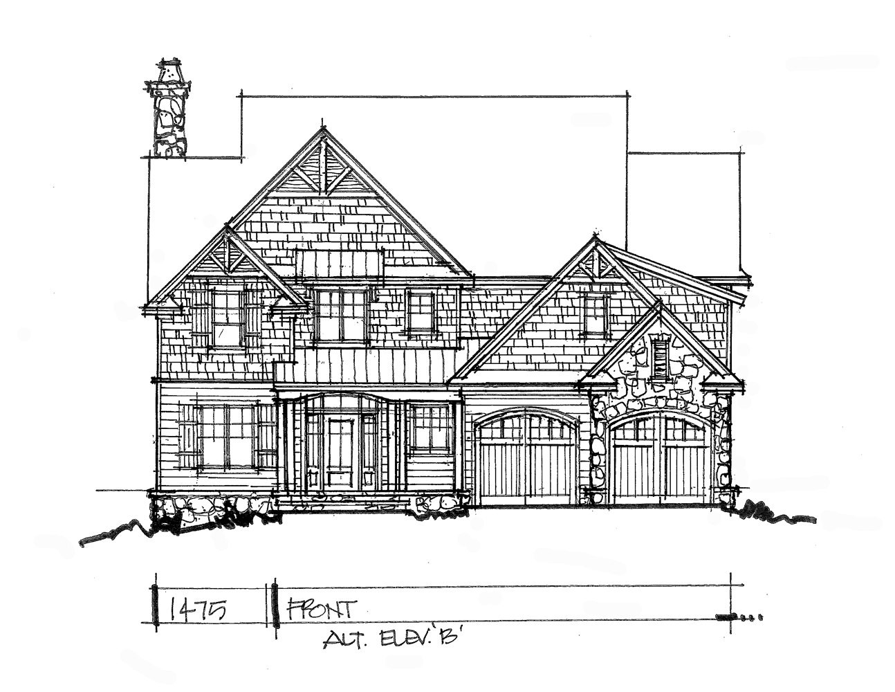 Check out front elevation B for conceptual design 1475.
