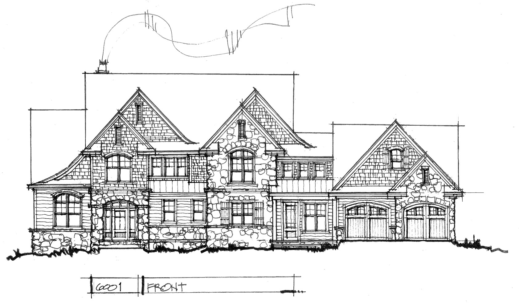 Check out the front elevation of house plan 6001.