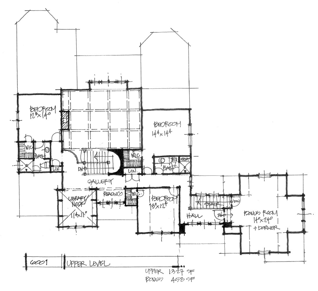 Check out the second floor of house plan 6001.