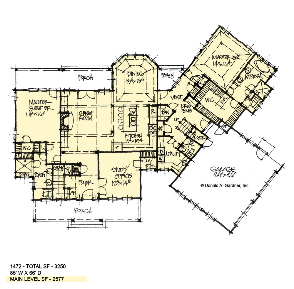 First floor of conceptual house plan 1472.