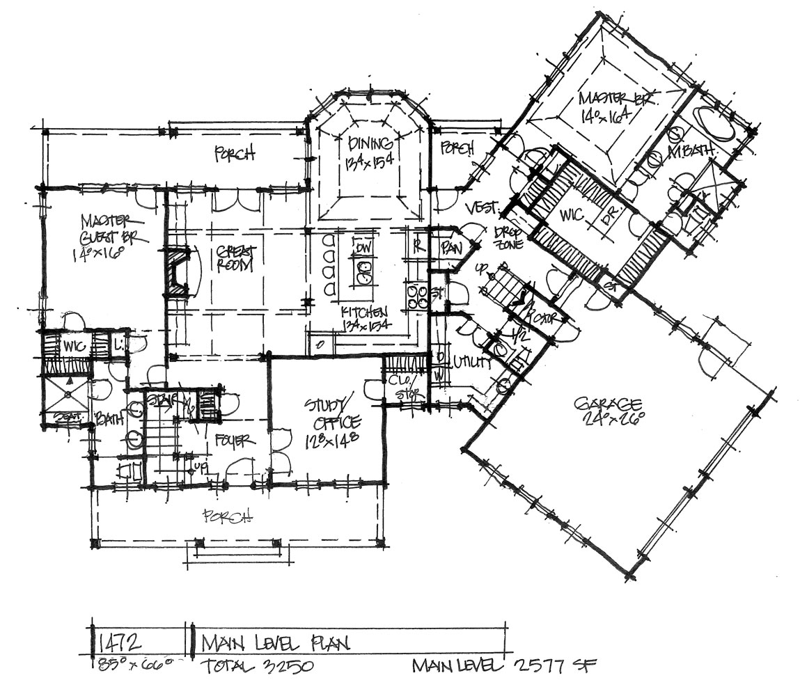 Check out the first floor of house plan 1472.