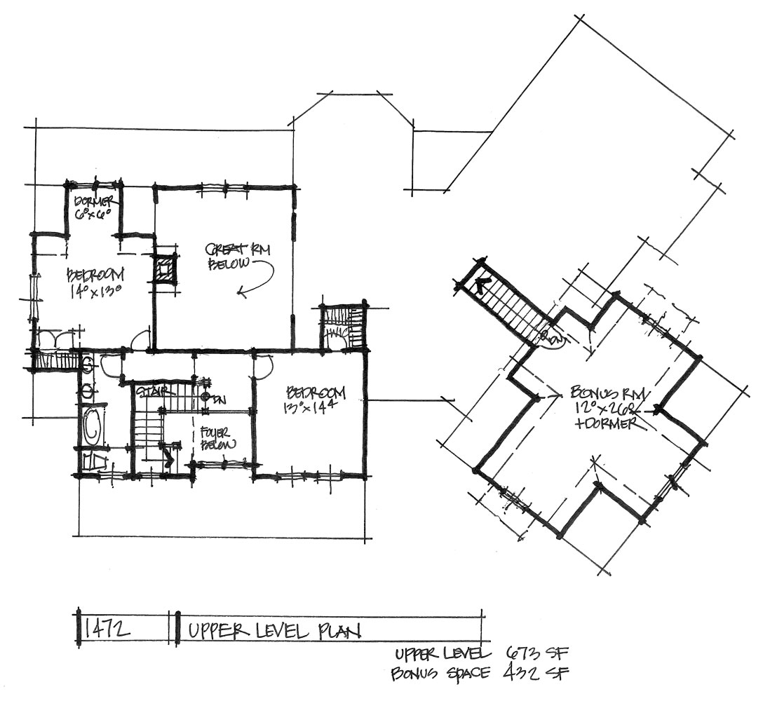 Check out the second floor of house plan 1472.