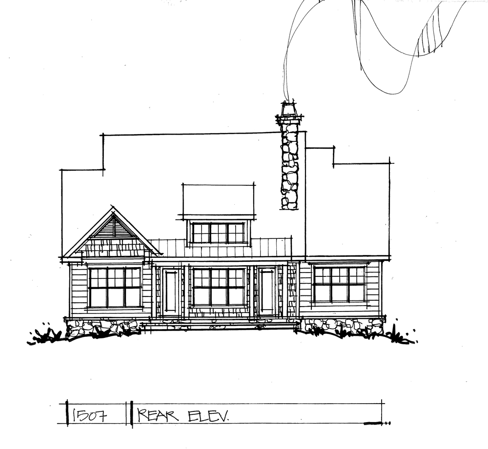 Check out the rear elevation of conceptual house plan 1507.