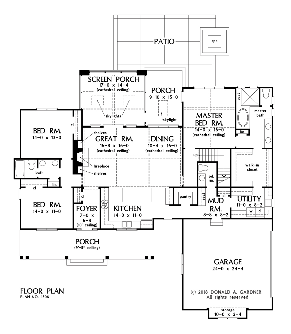 Check out the first floor of The Ashbry plan 1506.