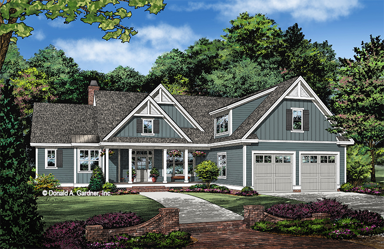Front rendering of The Dorien house plan 1511.