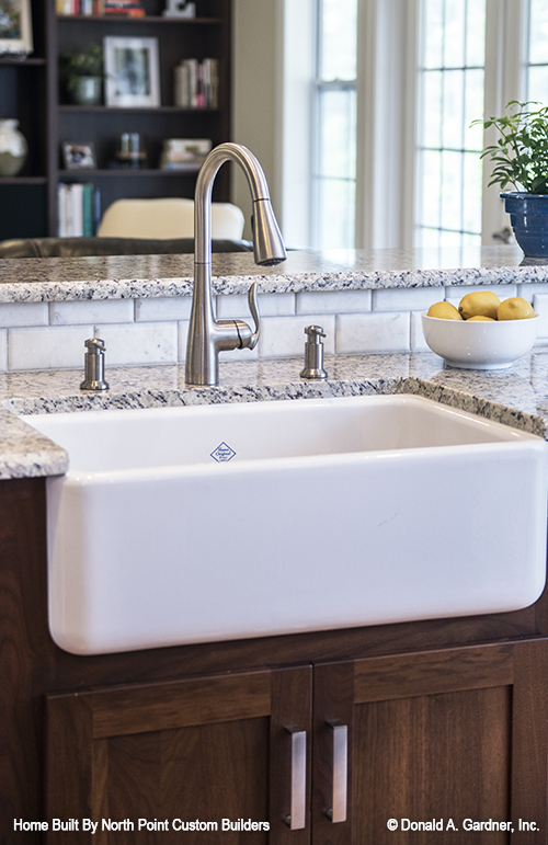 Farmhouse sinks are one of the top kitchen trends.