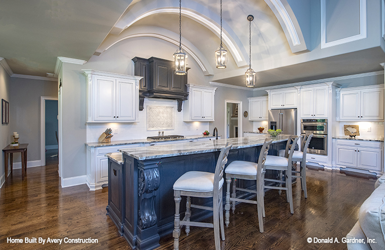 Vaulted ceilings are one of the top kitchen trends.
