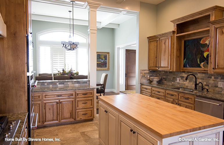 Butcher block counter-tops are one of the top kitchen trends.