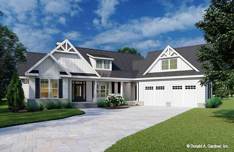 Front rendering of The Rodrick House Plan 1526.