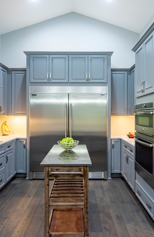 Industrial style one of the top kitchen trends.