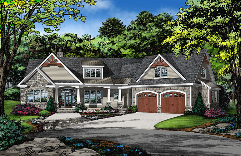 The Oliver is one of the most popular house plans from Don Gardner Architects.