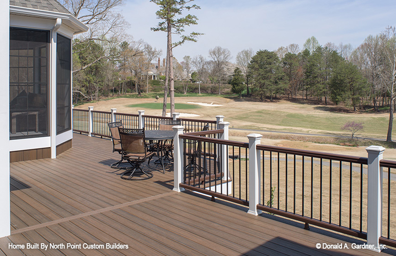Rear deck of The Austin house plan 1409.