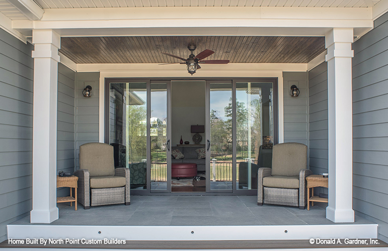 Rear porch of The Austin house plan 1409.