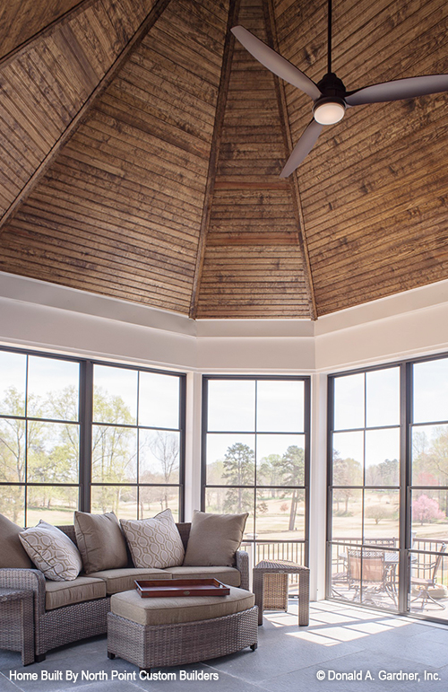 Screened porch of The Austin house plan 1409.